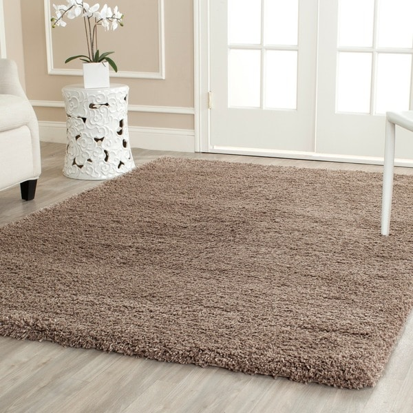 Safavieh California Cozy Solid Taupe Shag Rug 14790758