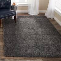 Safavieh Cozy Solid Dark Grey Shag Rug (8' x 10')
