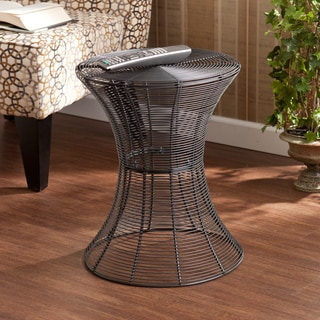 Upton Home Kayden Indoor Outdoor Silver Metal Accent Table