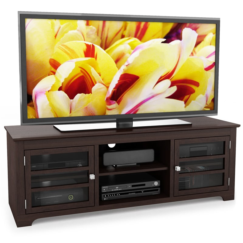 sonax west lake wood dark espresso 60 inch entertainment center overstock shopping great. Black Bedroom Furniture Sets. Home Design Ideas