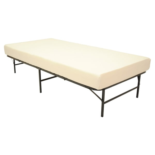 Pragma Quad Fold Bed Frame Twin Size With 6 Inch Memory