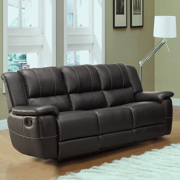 Tribecca Home Griffin Black Bonded Leather Oversized