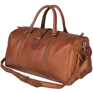 Handmade Leather Duffle Bag (Morocco)