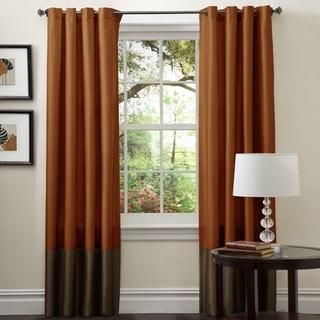 Lush Decor Prima Ivory Taupe Curtain Panel Pair