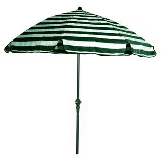 Green And Off White Stripes Green Pole 92 Inch Umbrella