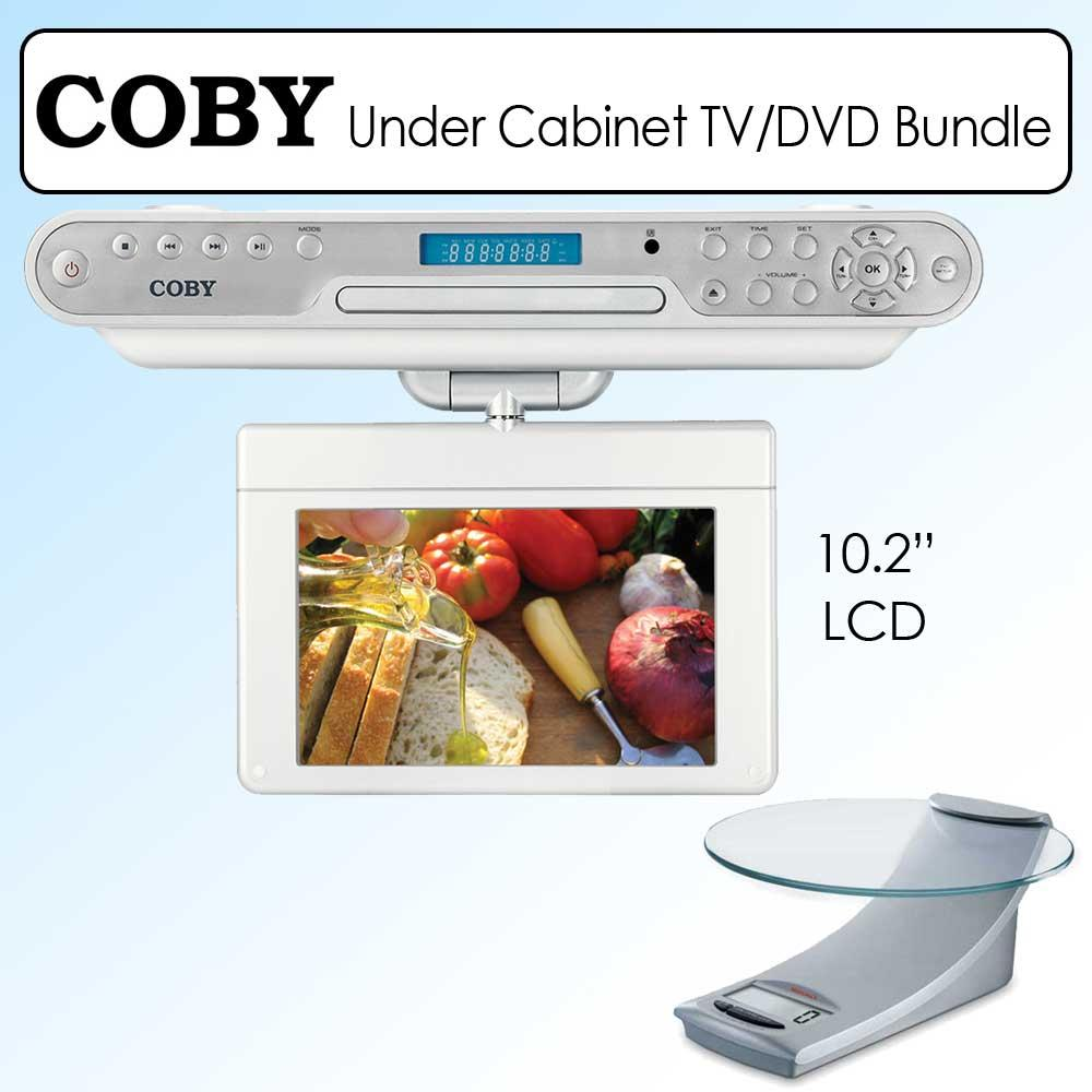 Under Cabinet Kitchen Tv Best Buy: Coby 10.2-inch Under-cabinet LCD TV DVD Player And Kitchen