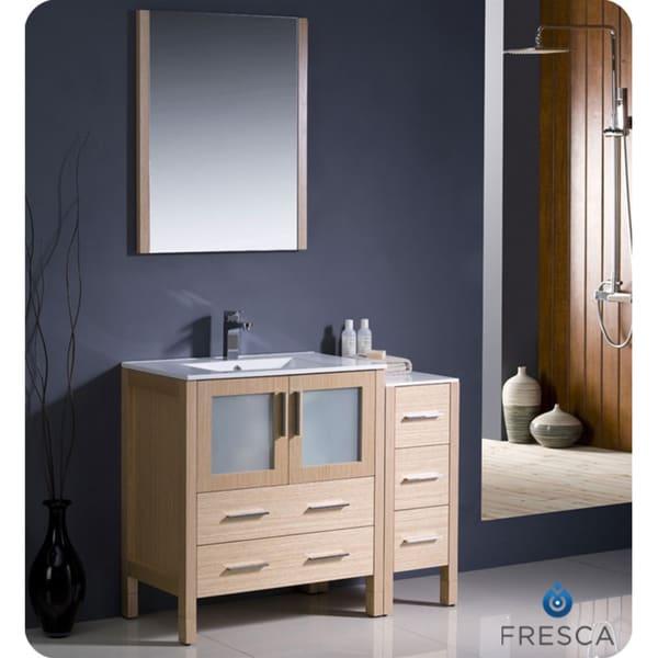 Fresca Torino 42-inch Light Oak Modern Bathroom Vanity ...