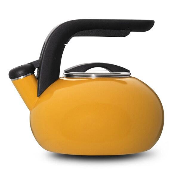 Kitchenaid Mustard Yellow Porcelain Enameled Whistling 1 5