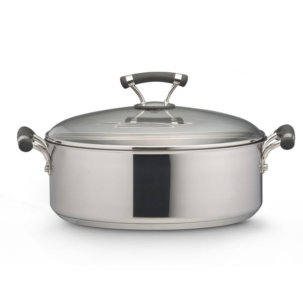 Circulon Contempo Stainless Steel 7 5 Quart Covered Wide