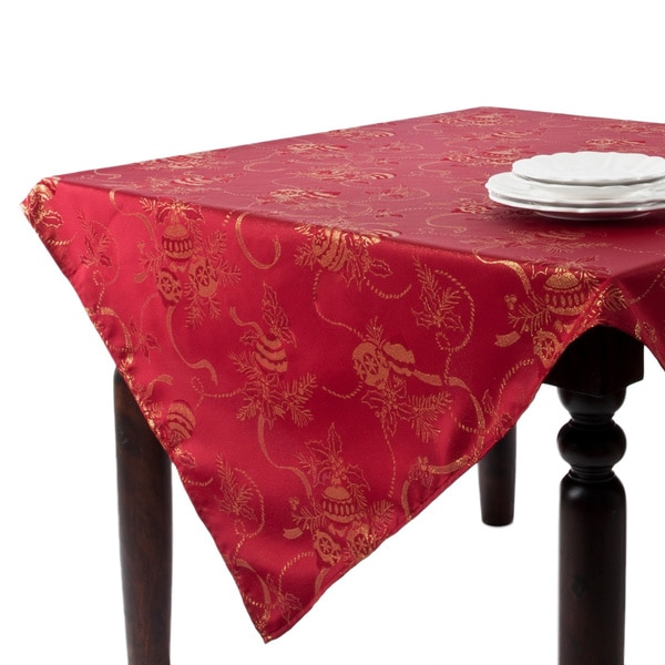 Jacquard Red Holiday Tablecloth 14925631 Overstock Com