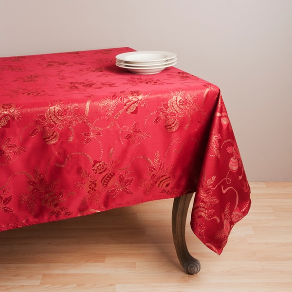 Jacquard Red Holiday Tablecloth 70 Quot X 120 Quot 14925632