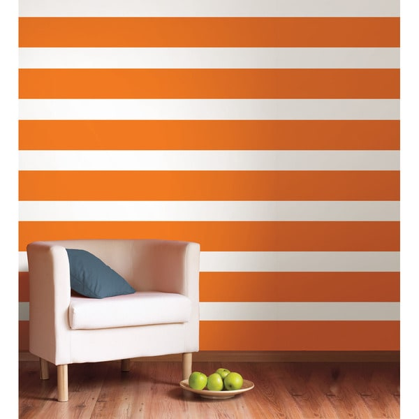 Wallpops Totally Orange Stripe Decal Bundle Vinyl Wall Art