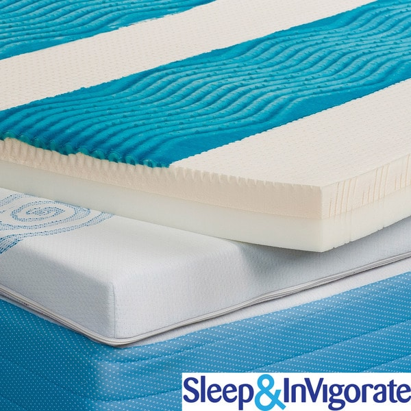 Sleep Amp Invigorate Active Cool Gel 3 Inch Mattress Topper
