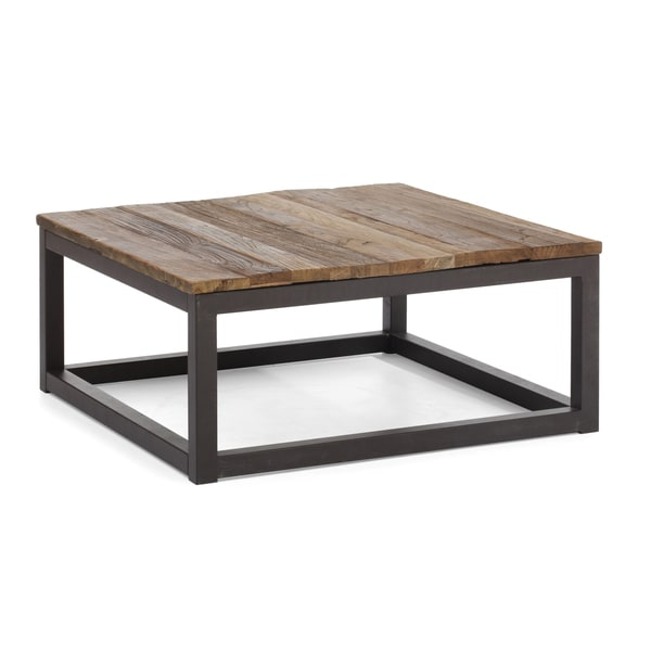 Civic Center Distressed Natural Square Coffee Table