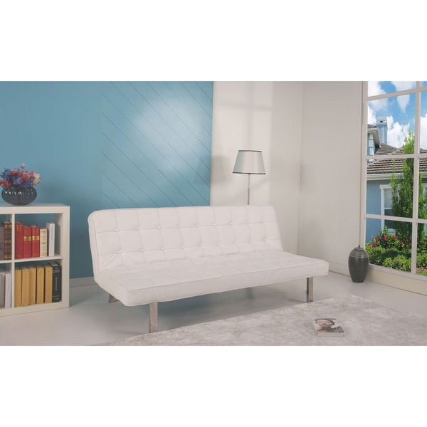 Sofa Bed Deals: 'Vegas' White Futon Sofa Bed