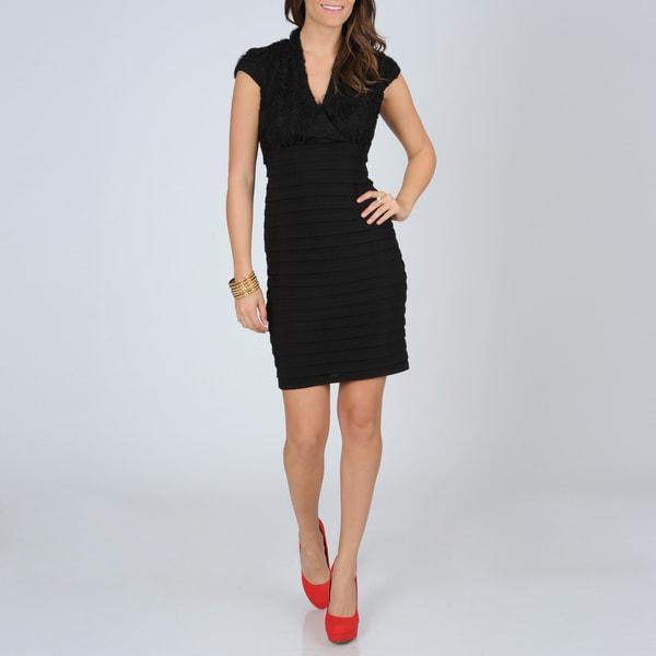 daac8dfbb902c R   M Richards Women s Black Shutter Pleat Dress R   M Richards Evening    Formal Dresses