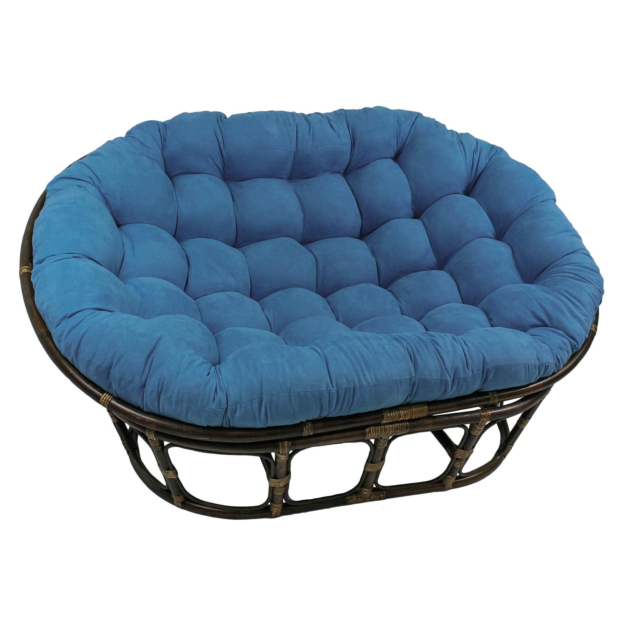 International Caravan Rattan Mamasan Double Papasan Chair