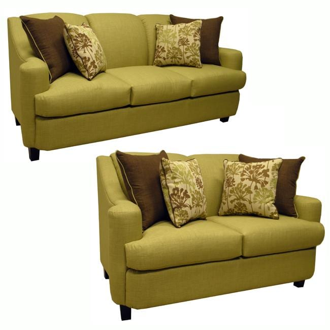 Sleeper Sofa Overstock: Lansing Lime Green Fabric Sofa Bed Sleeper And Loveseat