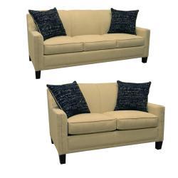Avery Cream Fabric Sofa Bed Sleeper And Loveseat