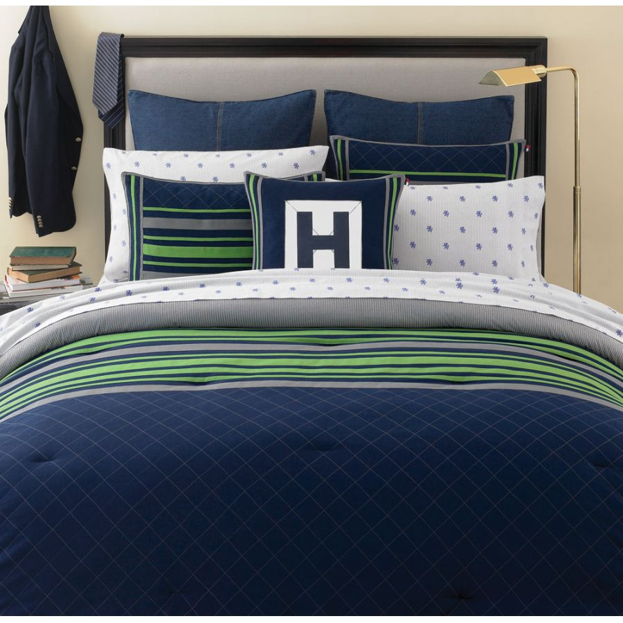 Tommy Hilfiger Rugby Navy Full Queen Comforter Set