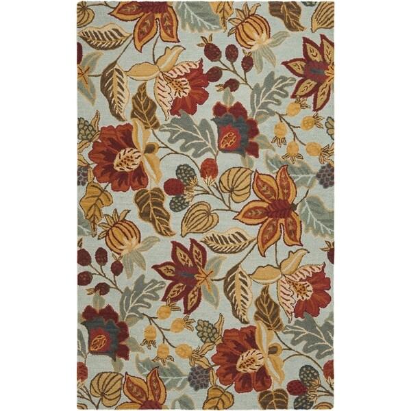 Safavieh Handmade Blossom Blue Wool Rug 14949979