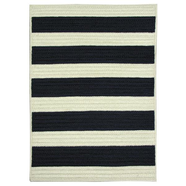 Nautical Stripe Navy Braided Rug Overstock Shopping