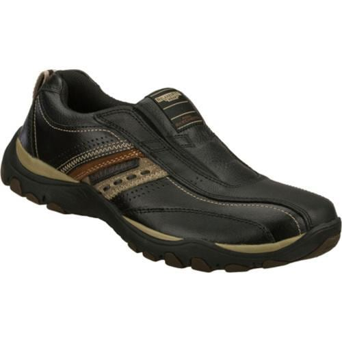 Mens Skechers Relaxed Fit Artifact Excavate Black Brown