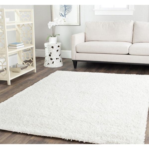 Safavieh California Cozy Solid White Shag Rug 14955430