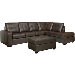 Leather Sectional Sofas Overstock Shopping Stylish