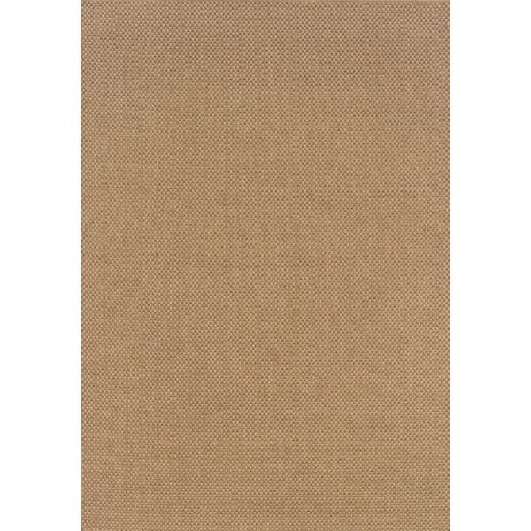 Outdoor Indoor Sand Polypropylene Area Rug Overstock