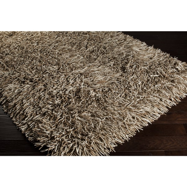 Hand-woven Helix New Zealand Felted Wool Plush Shag Rug