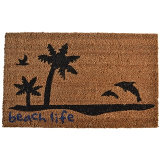 Palm Tree Welcome Mat 14961428 Overstock Com Shopping