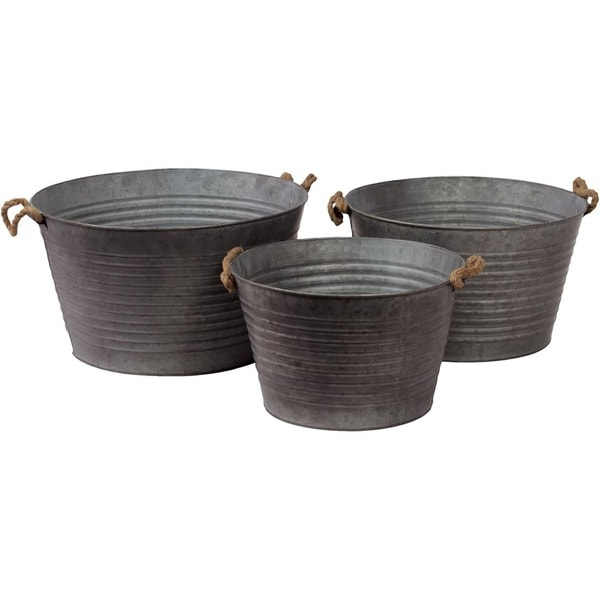 Urban Trends Collection Metal Container (Set Of 3