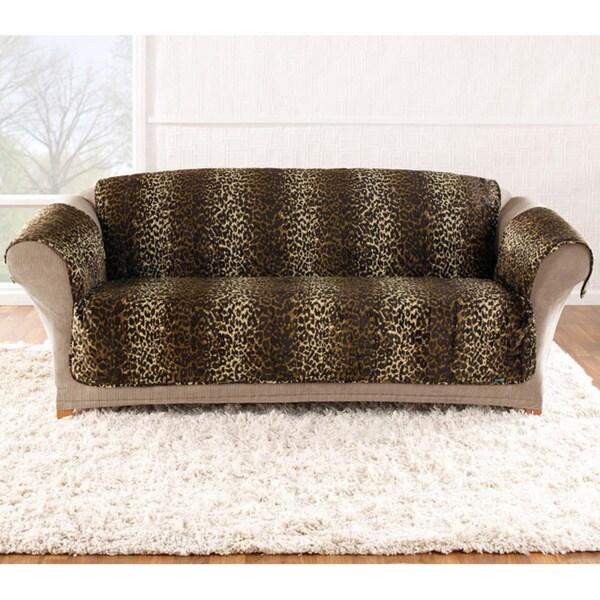 Velvet Leopard Sofa Cover