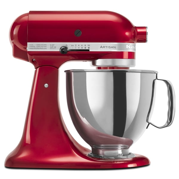 Kitchen Aid Mixer Sale: KitchenAid RRK150CA Candy Apple Red 5-quart Artisan Tilt
