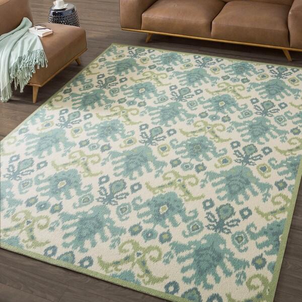 Nourison Vista Ikat Ivory Rug 14980918 Overstock Com