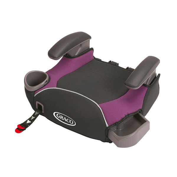 graco affix purple no back booster seat with latch system 14980967 shopping. Black Bedroom Furniture Sets. Home Design Ideas