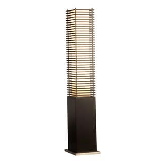 Nova Lighting Torque Brown Wood Accent Floor Lamp