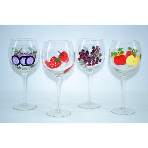 Did You Know About The 7 Celebration Cake At Olive Garden: Fabulous Hand-painted Antique English Wine Glasses (Set Of