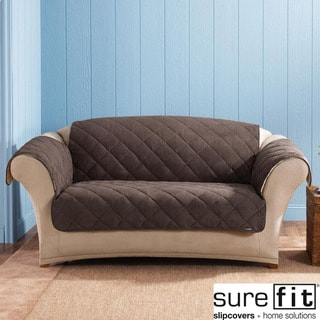 Sure Fit Reversible Flannel Sherpa Sofa Furniture