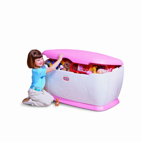 Carnival Toy Box Pink: Little Tikes Giant Pink Toy Chest