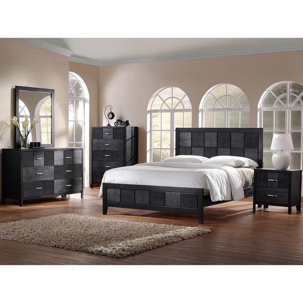 5 Modern Bedrooms: Baxton Studio Montserrat Black Wood 5-piece King-size