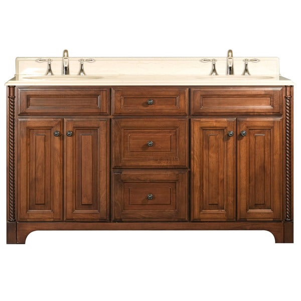 Water Creation Spain 60 Inch Golden Straw Double Sink Bathroom Vanity From The Spain Collection