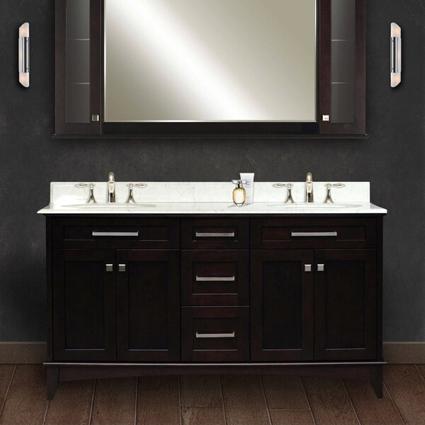 Water creation manhattan 60 inch dark espresso double sink - 60 inch bathroom vanities double sink ...