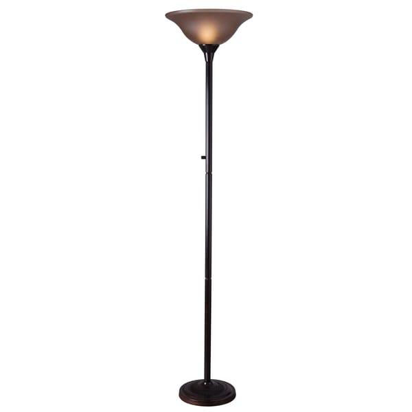 Bronze Pedara Torchiere Floor Lamp