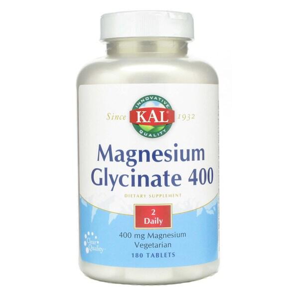 Kal Melatonin 3 Mg 120 Tablets: KAL Magnesium Glycinate 400 Mg (180 Tablets)
