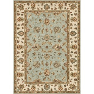 Hand Tufted Wilson Teal Slate Wool Rug 15009823