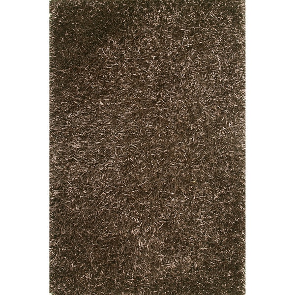 Hand-tufted Rocco Brown Shag Rug (7'6 x 9'6)