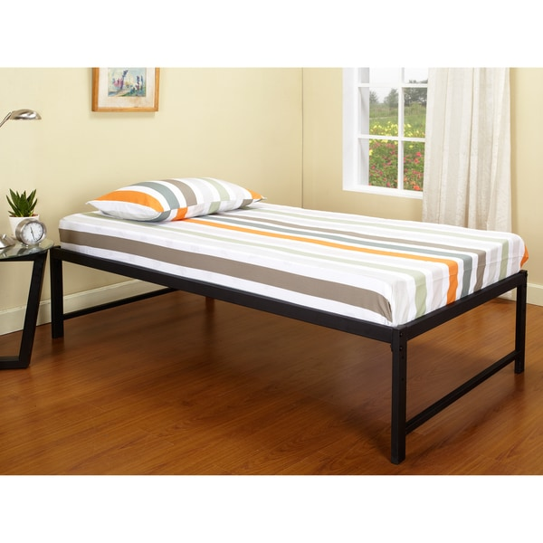 K Amp B B39 1 2 Hi Riser Bed With Black Metal Frame 15011848