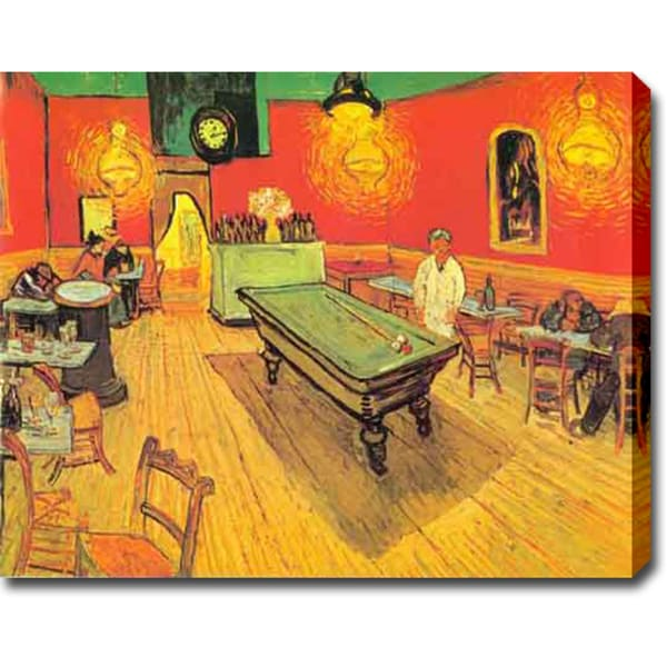 Vincent van Gogh 'The Night Café in the Place Lamartine in Arles' Oil on Canvas Art